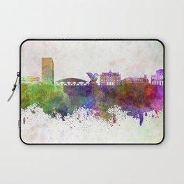 Ljubljana skyline in watercolor background Laptop Sleeve