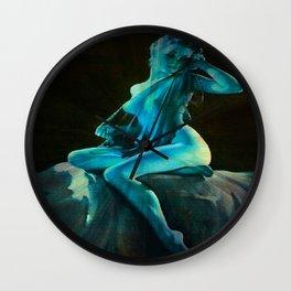 pin UP Girl Blue Dreams Wall Clock