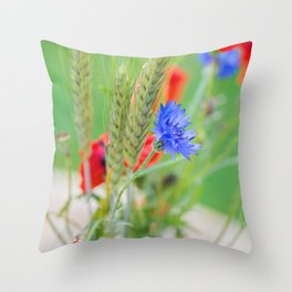 Bunch of of red poppies Throw Pillow