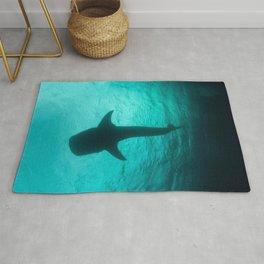 Whale shark silhouette Rug