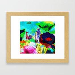 Dans un jardin Framed Art Print