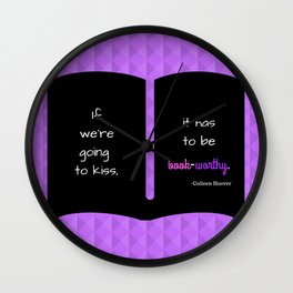 November 9 by Colleen Hoover Wall Clock