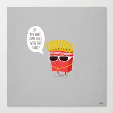 Douche Fries Canvas Print
