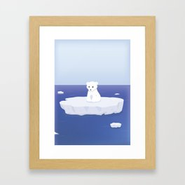 A lonely bear Framed Art Print