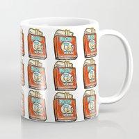 popeye Mugs featuring Popeye Smokes 2.0 by Snack Paintings