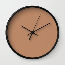 Light Orange-Brown Solid Color Pairs To Benjamin Moore Potters Clay 1221 Wall Clock