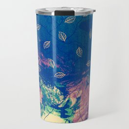 Abstract nature in the mountains Travel Mug