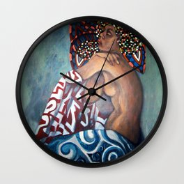 Afro-Celt (mixed media) Wall Clock