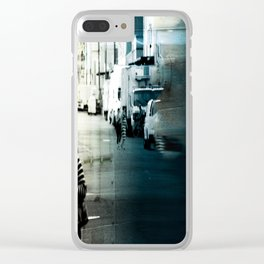 City Stripes Clear iPhone Case