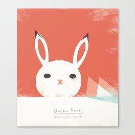 Arctic Hare Canvas Print