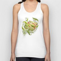 bed Tank Tops featuring Bed Bugs by Charity Ryan