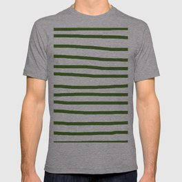 Simply Drawn Stripes in Jungle Green T-shirt