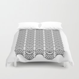 Brooklyn Williamsburgh Savings Bank Archidoodle by the Downtown Doodler Duvet Cover