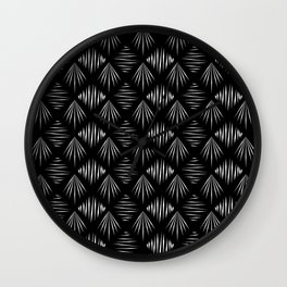 Black and White Pattern II Wall Clock