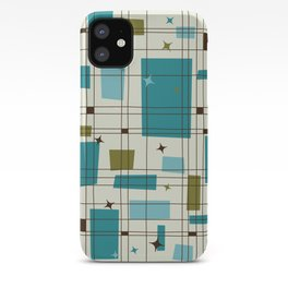 Mid-Century Modern (teal) iPhone Case