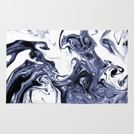 Marble Suminagashi watercolor pattern art pisces water wave ocean minimal design Rug