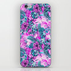 Tropical Garden Pink iPhone & iPod Skin