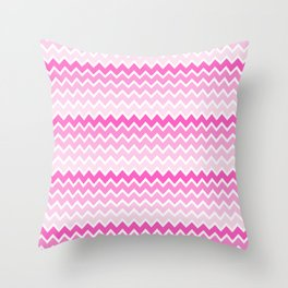 Pink Ombre Chevron Throw Pillow