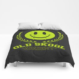 Old Skool Academy Rave Quote Comforters