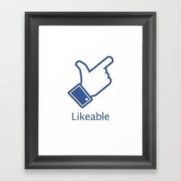 Likeable Framed Art Print