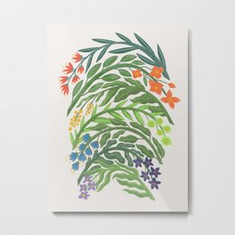 Floral Rainbow Metal Print