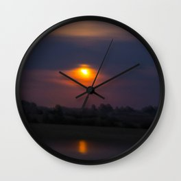 Blood Moon, Night in Countryside Wall Clock