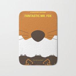 No673 My Fantastic Mr Fox minimal movie poster Bath Mat