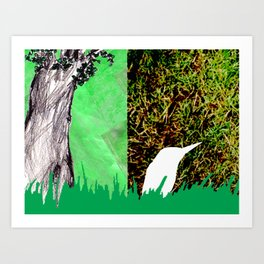 Bird and Tree Art Print