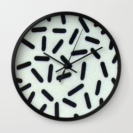 Inverted Lines Print Wall Clock
