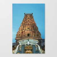 hindu Canvas Prints featuring HINDU TEMPLE by JChrst