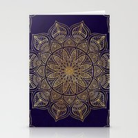 islam Stationery Cards featuring Gold Mandala by Mantra Mandala
