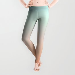 Color gradient background - fading sunset sky colors Leggings