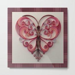 Quilling Heart 5 Metal Print