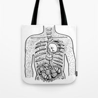 drums Tote Bags featuring in drums by nuba