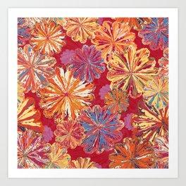 Poppytops Carnival Art Print