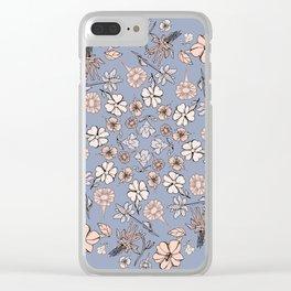 Southwestern Wildflowers Clear iPhone Case