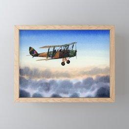 Tiger Moth Aircraft Framed Mini Art Print