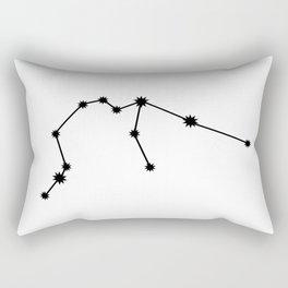 Aquarius Star Sign Black & White Rectangular Pillow