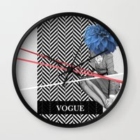 vogue Wall Clocks featuring Vogue by Frank Moth