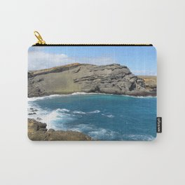 Green Beach and Turquoise Ocean Carry-All Pouch