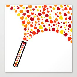 Chic Preppy Chic Test Tube Hearts Canvas Print