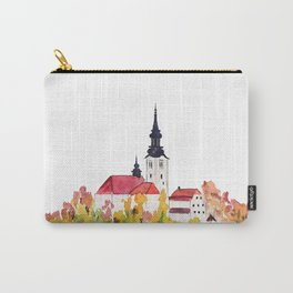 Slovenia Bled Lake pilgrimage church Carry-All Pouch