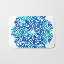 Mandala Iridescent Blue Green Bath Mat