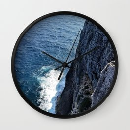 Ocean Cliff Side in the Cayman Islands Wall Clock