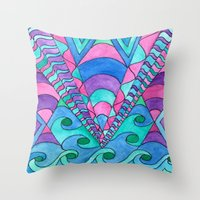 gatsby Throw Pillows featuring Gatsby Inspired by Rosie Brown