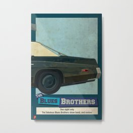 The Blues Brothers Bluesmobile 3/3 Metal Print