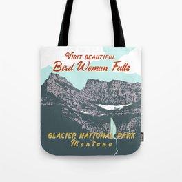 Bird Woman Falls Tote Bag