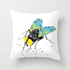 Geosafari   Fly (White) Throw Pillow