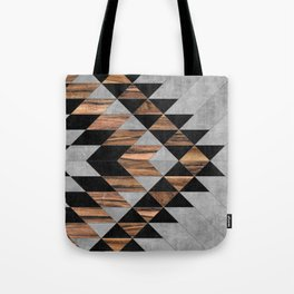 Urban Tribal Pattern No.10 - Aztec - Concrete and Wood Tote Bag
