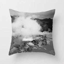Hot spring Throw Pillow